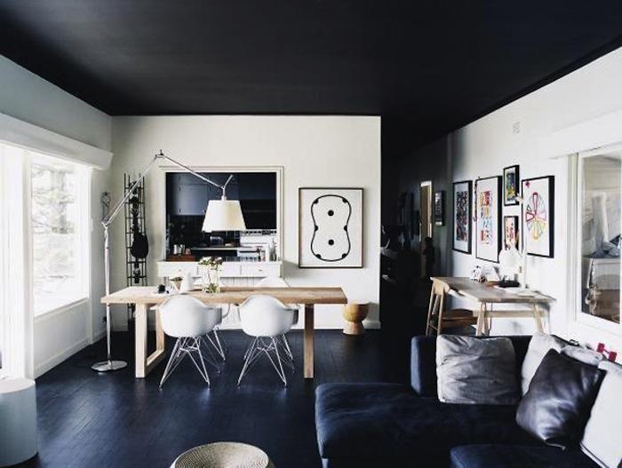 20 Reasons You Should Paint Your Ceiling Black Plafond Noir Plafond Sombre Decoration Interieure