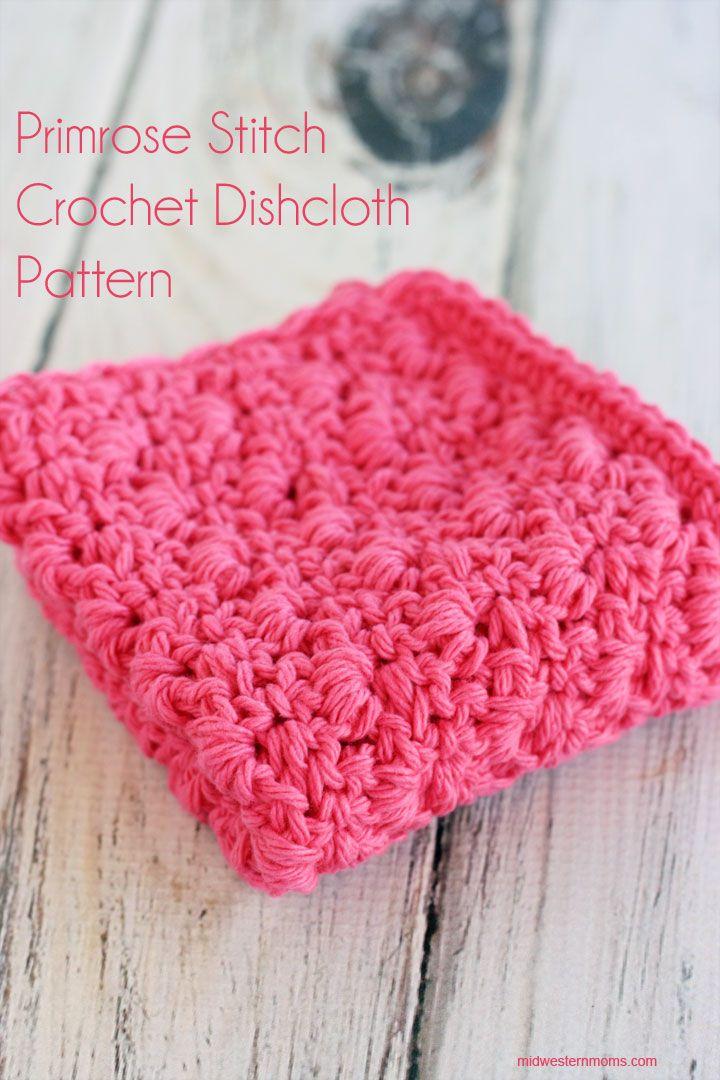 Primrose Stitch Crochet Dishcloth Pattern   Tejido, Hogar y Me gustas