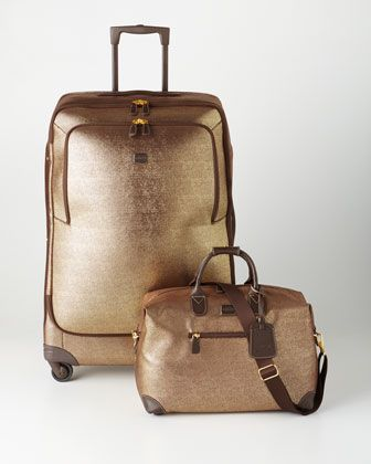 GlamLife+Gold+Luggage+by+Bric\'s+at+Neiman+Marcus.