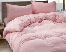 Ballet Slipper Pink Duvet Cover Made Of 100 Ultra Soft Linen