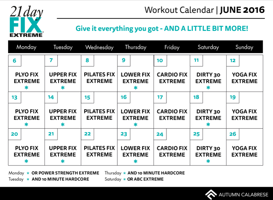 Calendario De 21 Day Fix Extreme.Let S Get Extreme Tips For Success Fitness Workout