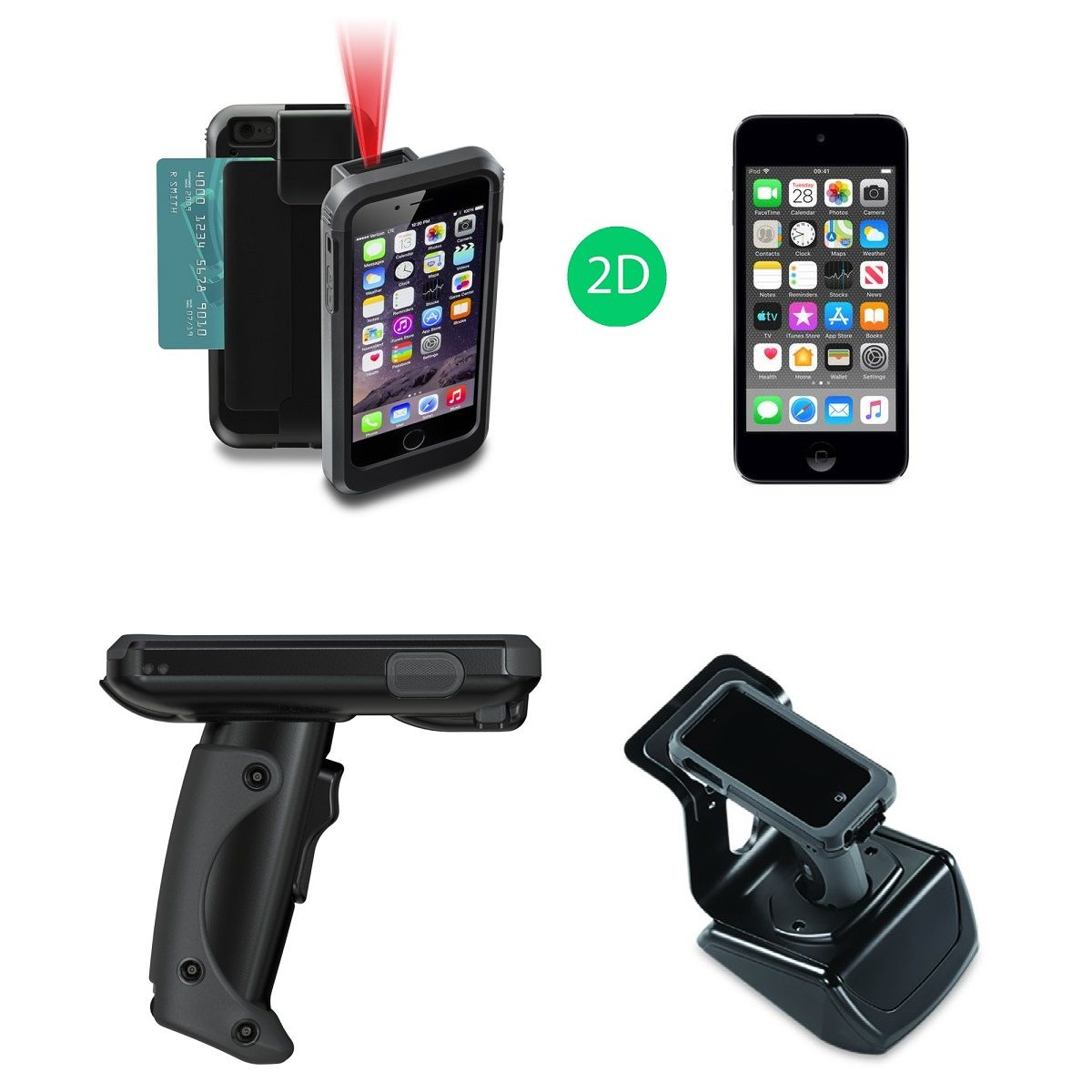 Linea Pro 5 Scanner Bundle with iPod, Pistol Grip & Charger