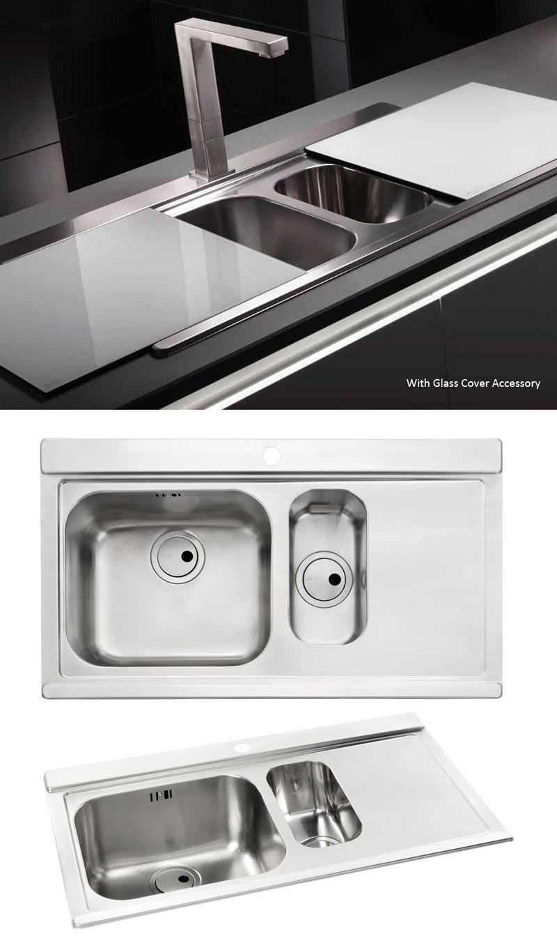 Abode Maxim 1.5 Bowl Stainless Steel Kitchen Sink   House ideas ...