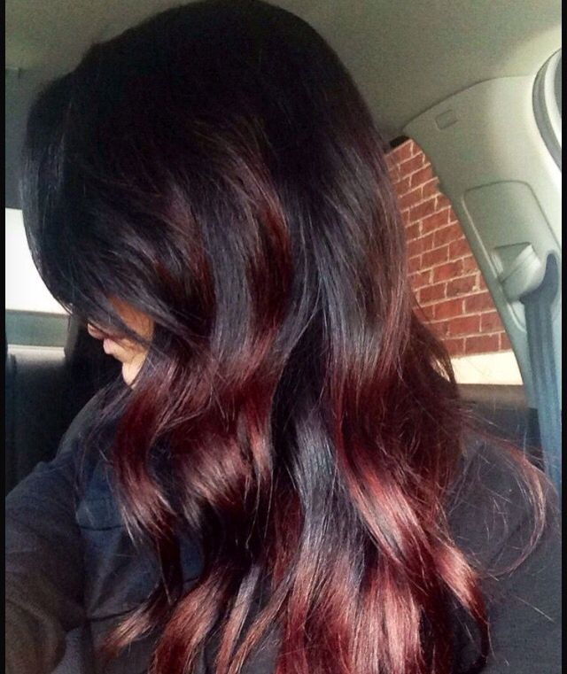13 Fabulous Highlighted Hairstyles For Black Hair Pretty Designs Red Ombre Hair Hair Styles Hair Highlights