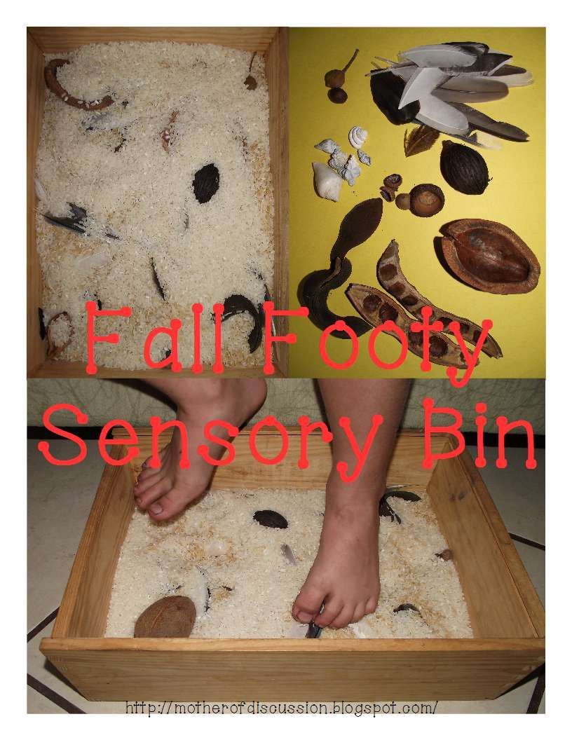 Mother of Discussion: Fall Footy Sensory Bin