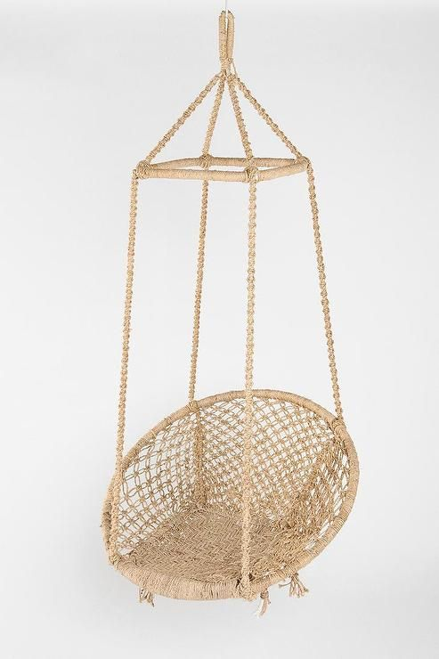 Seating fes swing chair i urban outfitters jute swing for Indoor hanging chair for bedroom