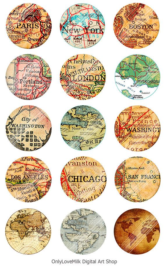 Instant download digital collage vintage maps 40 piece instant download digital collage vintage maps 40 piece collection publicscrutiny Image collections