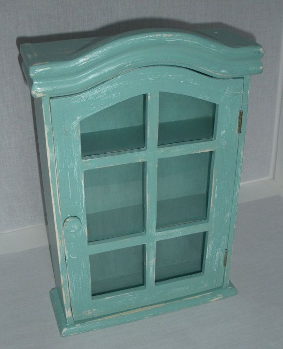 Curio Cabinet Cottage Wall Cabinet Painted and by AtticJoys1 ...