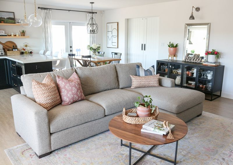 Family Room Refresh With Room Board Metro Sofa Review Family