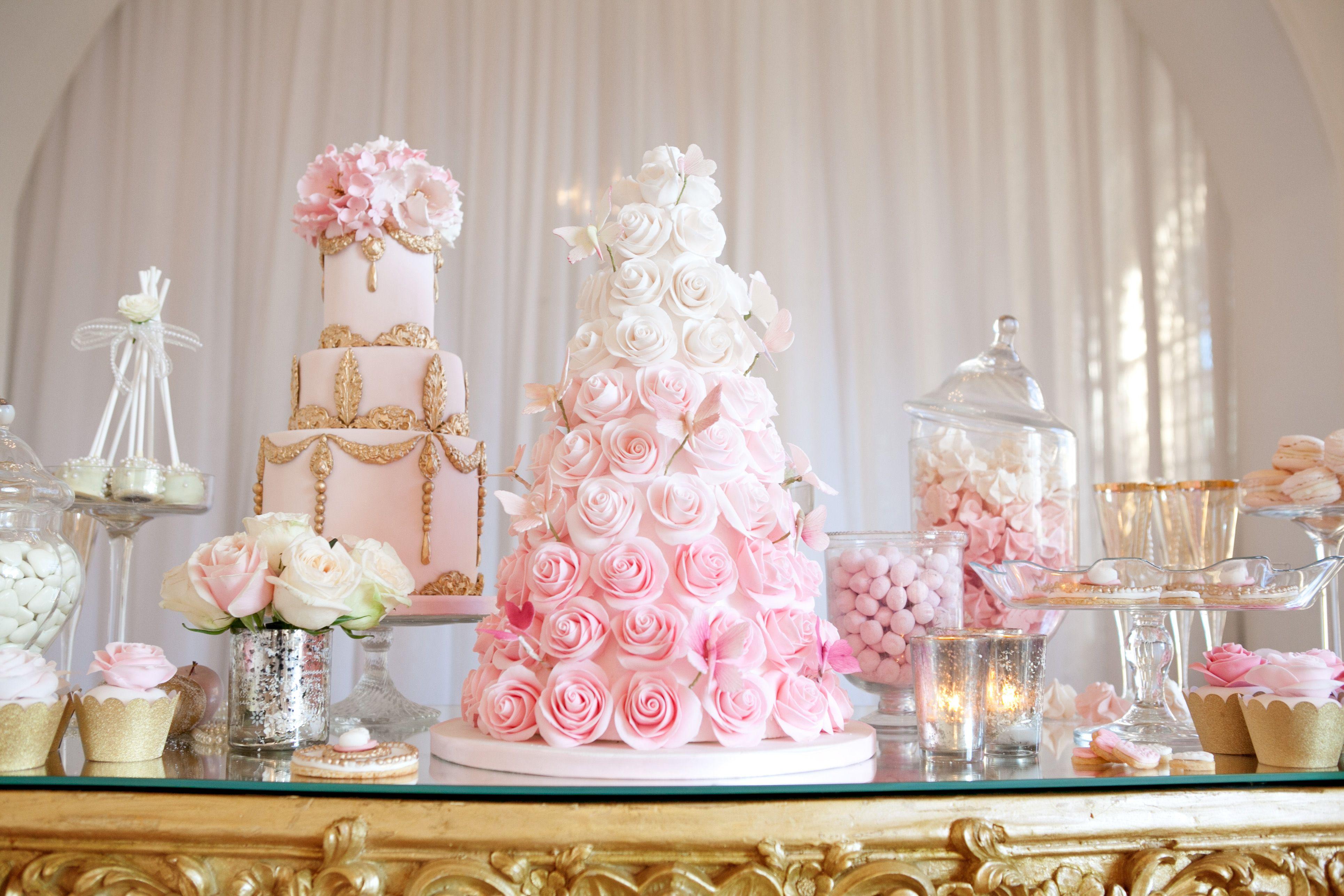 Beautiful dessert table #wedding #cake #cupcakes #favours #cookies ...