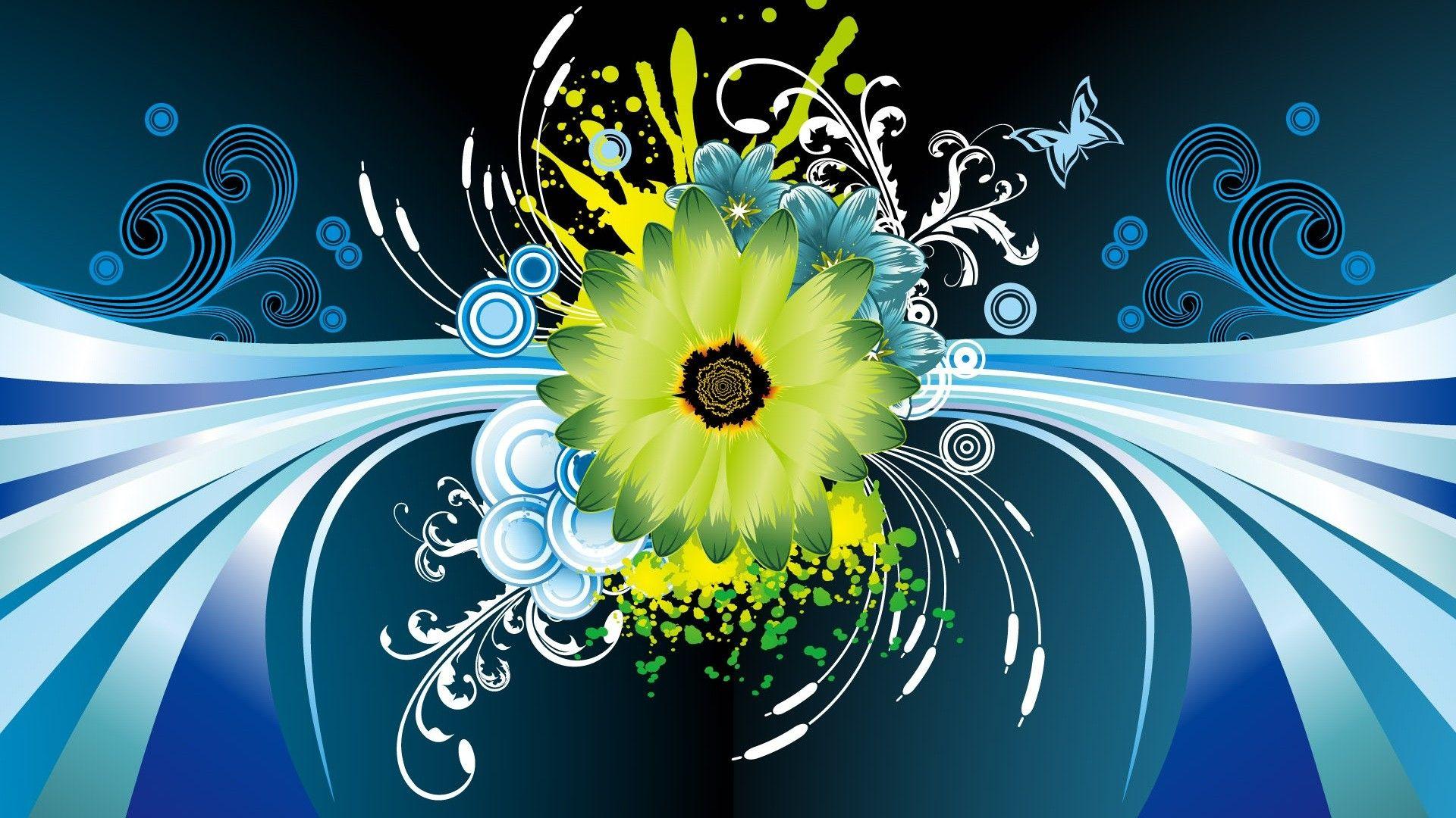 Hd wallpaper vector - Flower Vector Design Hd Wallpaper