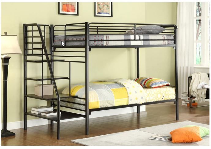 Black Metal Loft Beds With Stairs Metal Bunk Beds Cheap Bunk