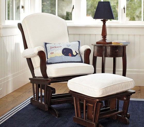 Sleigh Glider Ottoman Pottery Barn Kids Contemporary Rocking