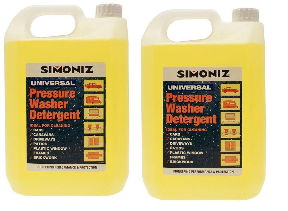 2 x Simoniz Pressure Washer Detergent 5L Paving Cleaner