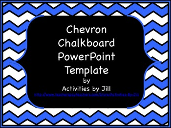 Chevron Chalkboard PowerPoint Template | Chevron patterns ...