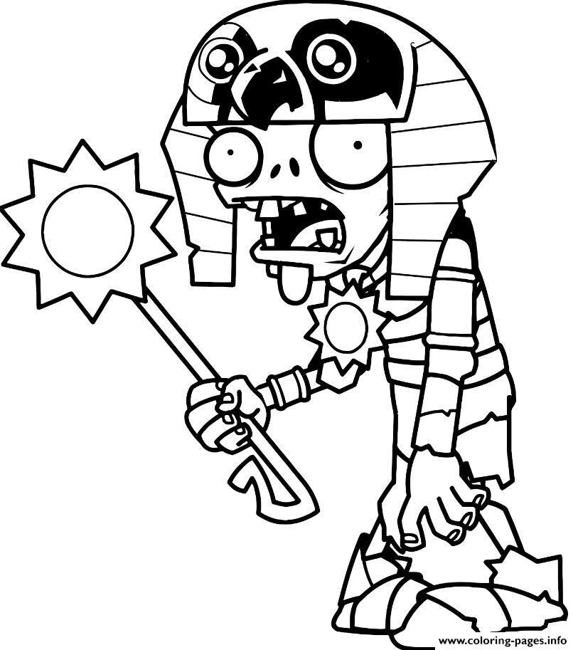 Print Egypt Plants Vs Zombies Coloring Pages Free Coloring Pages Plant Zombie Coloring Pages