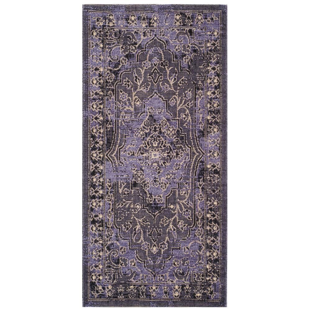 Safavieh Palazzo Purple Black 2 Ft 6 In X 5 Ft Area Rug Pal128