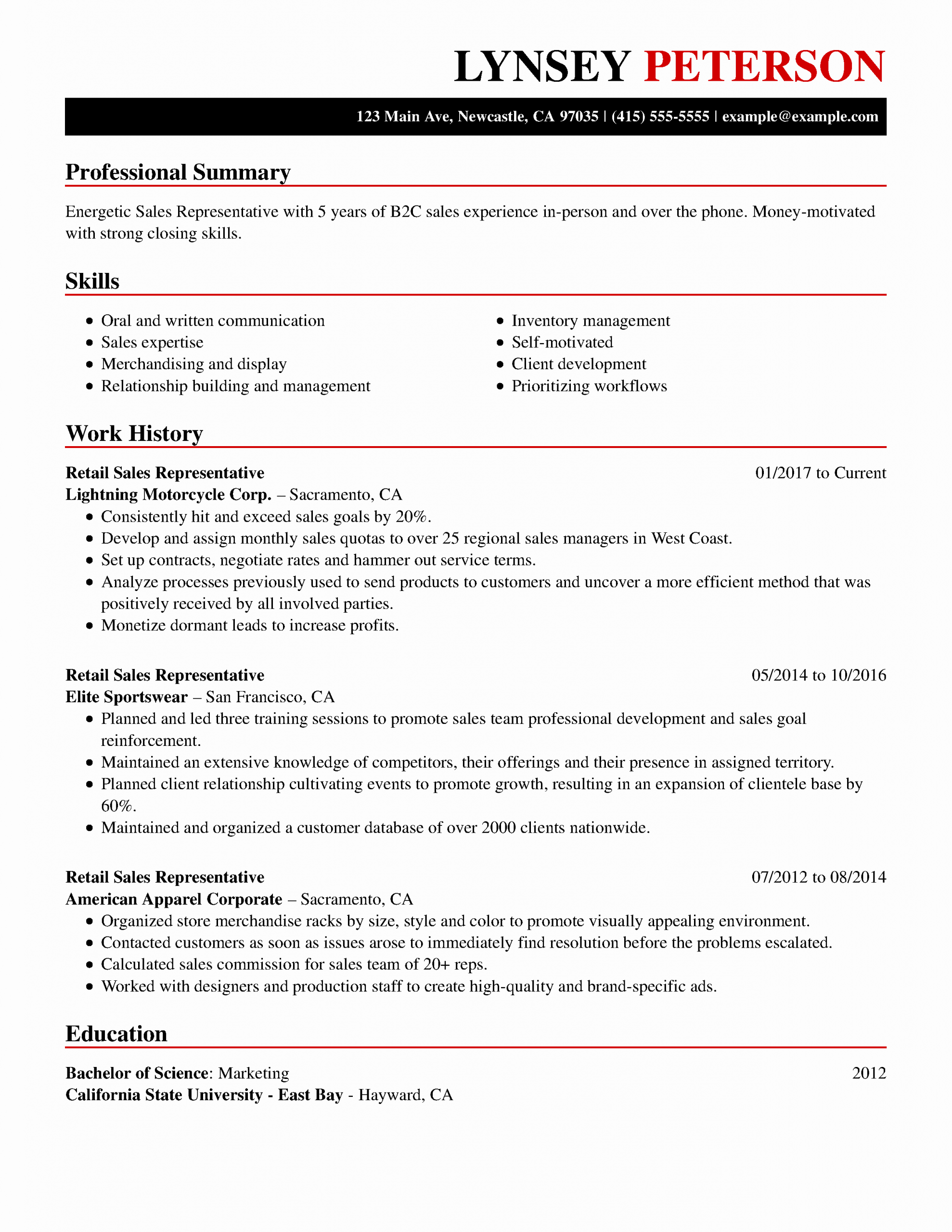 Job Resume Examples Skills