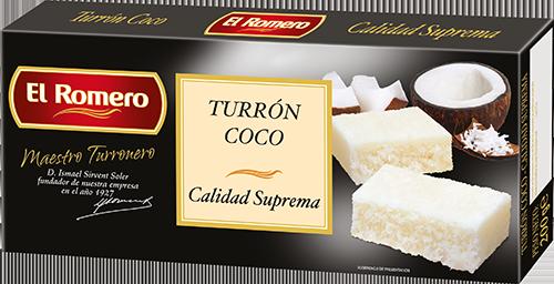 Turron de Coco EL ROMERO Calidad Suprema 200 g x 24 unidades