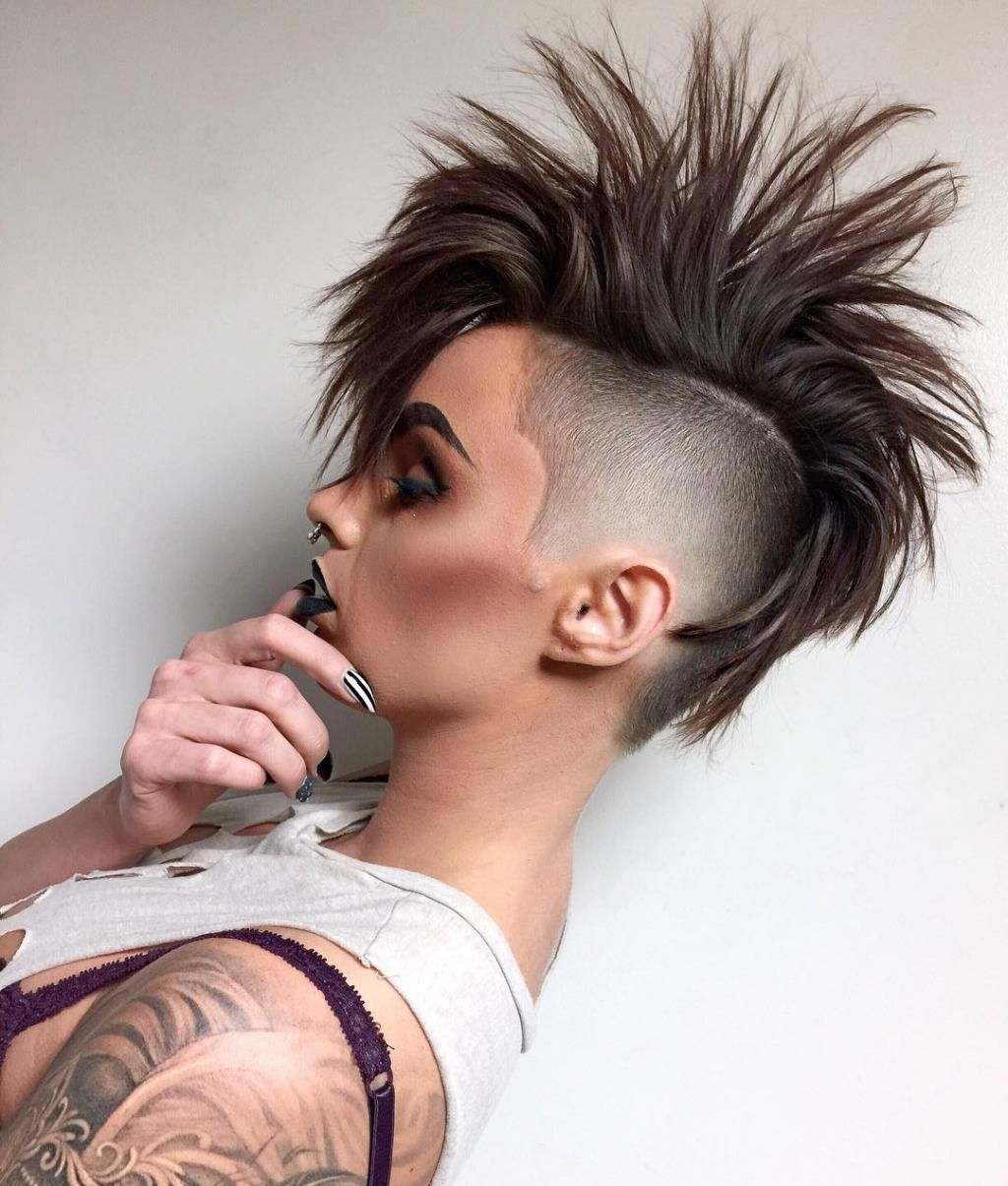 Sexy mohawk girls haircut headshave and bald fetish blog