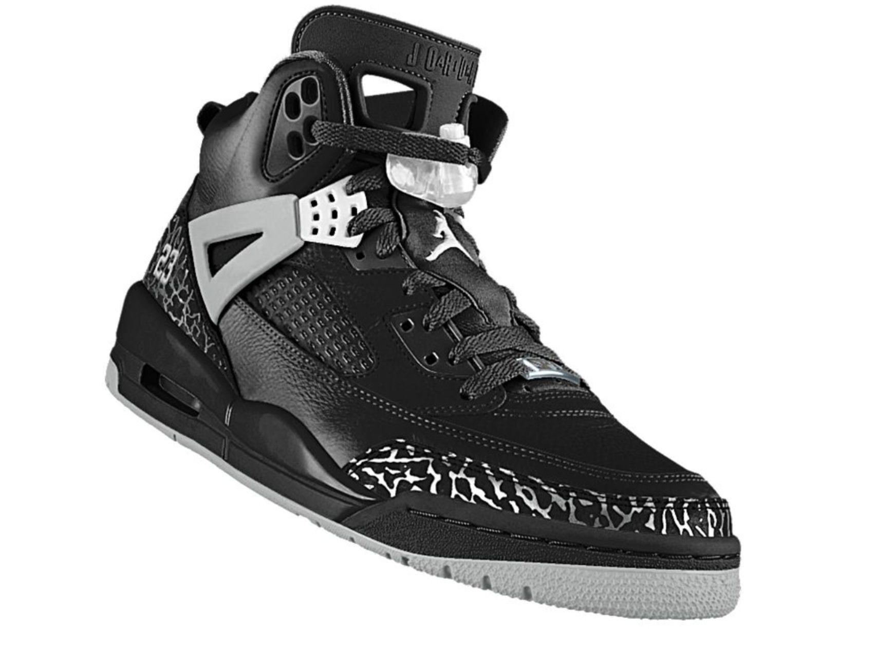 8aac1639178 NikeID Jordan Spizike (My Design)  Nikeid  Jordans  Spizike  Black  Cement
