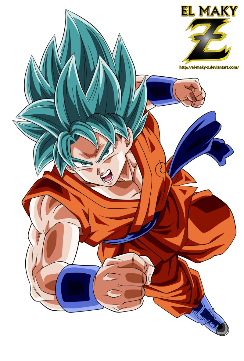 Son Goku Super Saiyan Blue God By El Maky Z On Deviantart Personajes De Dragon Ball Dragones Akira