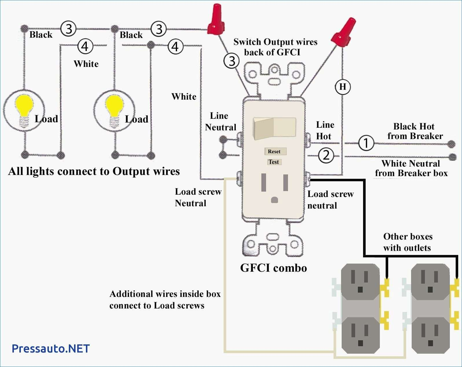 Wiring Diagram Outlets Outlet wiring, Gfci, Diagram