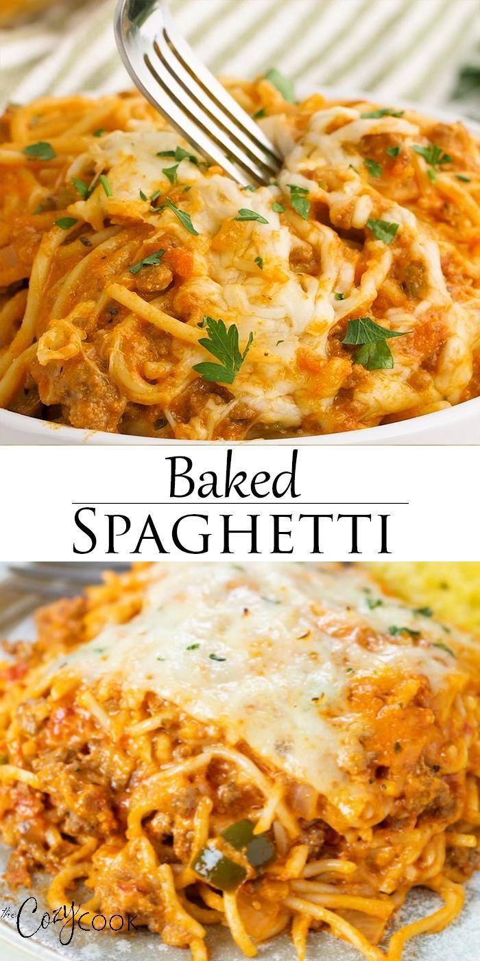 Baked Spaghetti - Make Ahead & Freezer Friendly!
