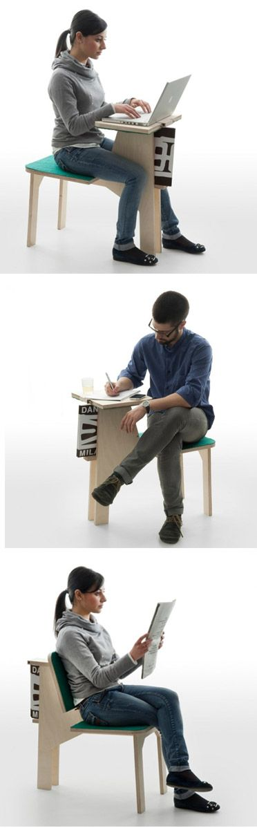 Multifunction Table Chair Design By Matali Crasset. | Multifunctionele  Tafel Stoel Ontwerp Van Matali Crasset