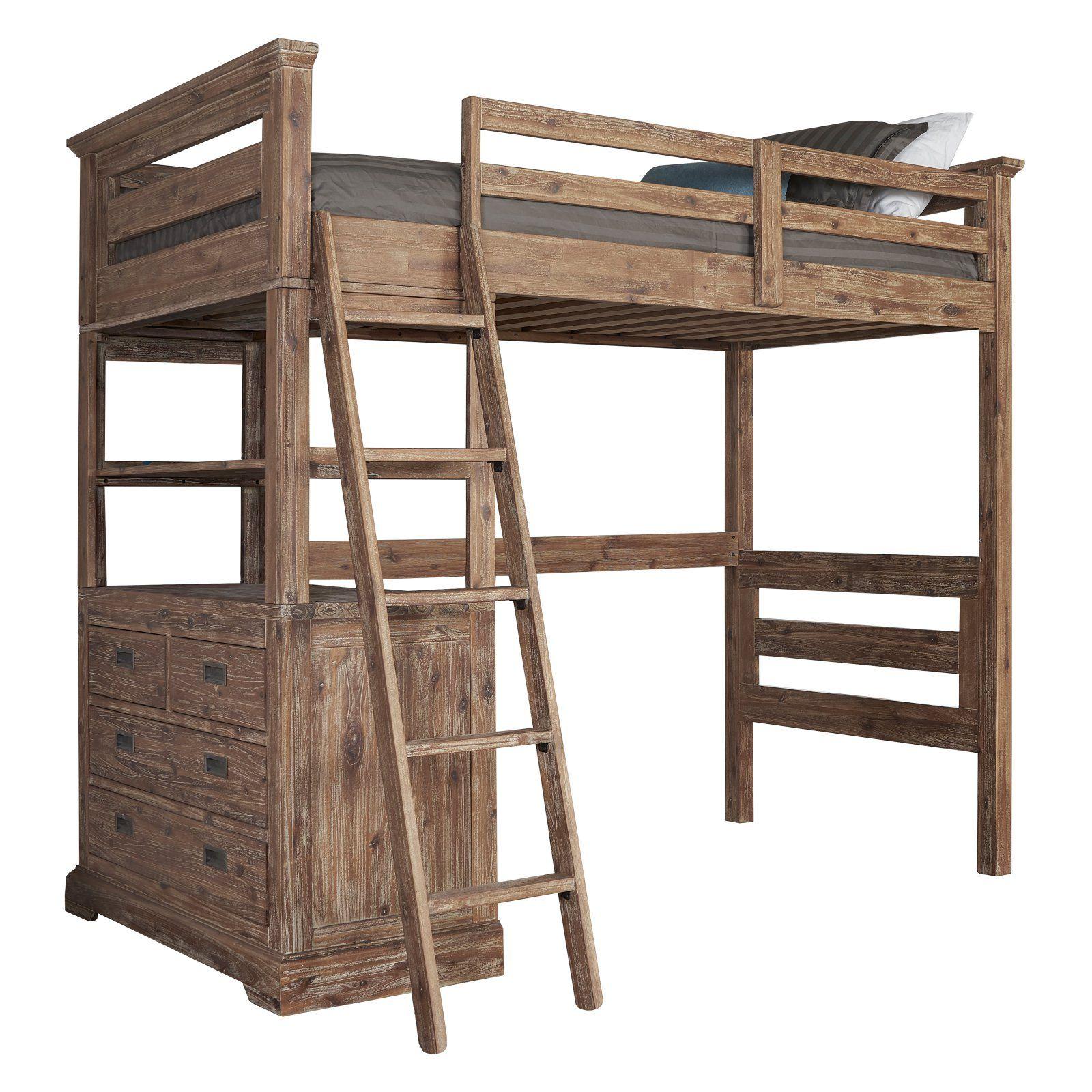 Hillsdale Furniture Caspian Study Loft With Images Twin Loft Bed Loft Bed Loft Bed Frame