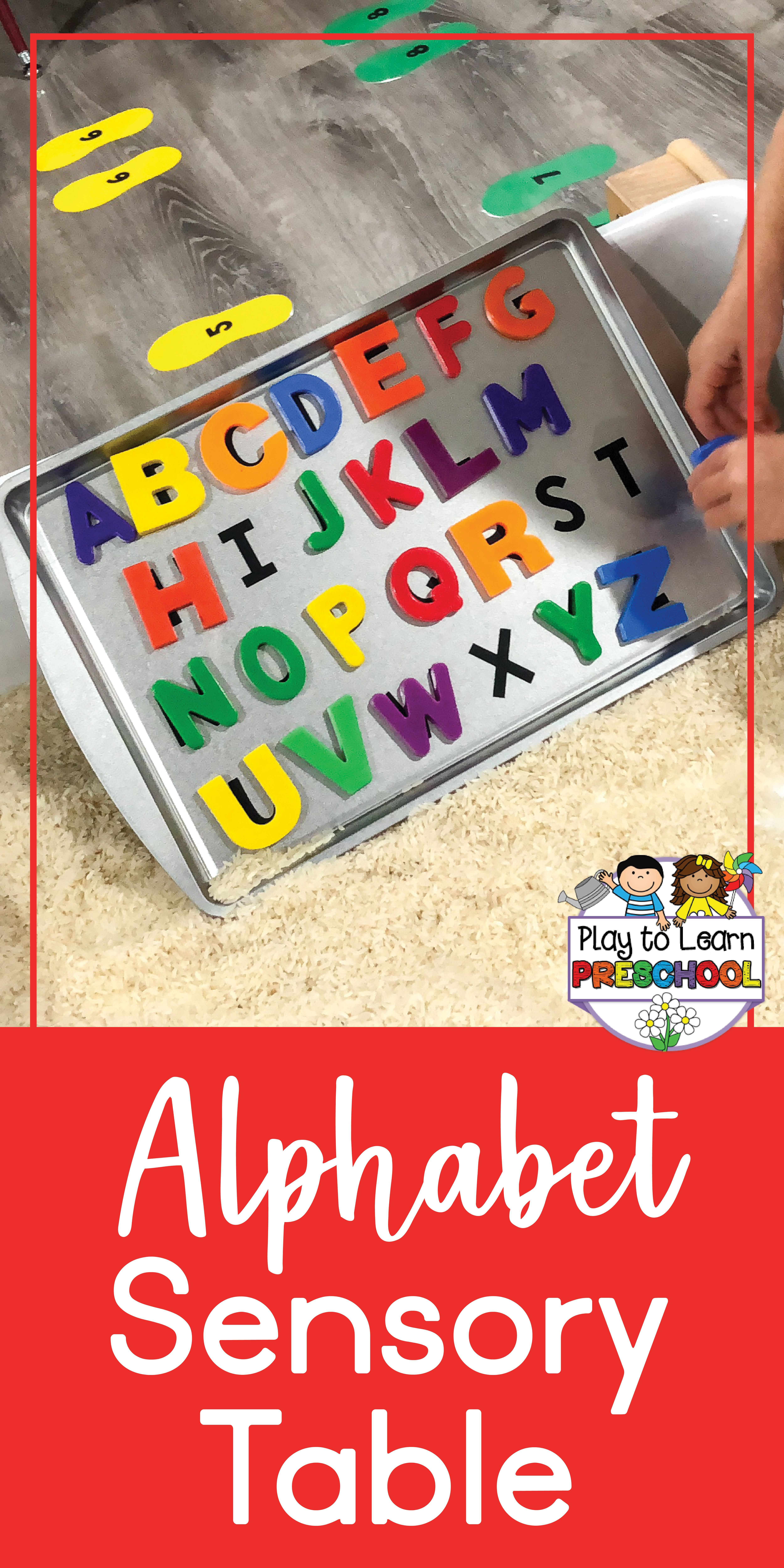 Alphabet Matching - Literacy in the Sensory Table