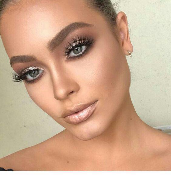 Photo of Silbernes Augen Make-up und nackter Lippenstift Inspirierende Damen #Augen #Damen #Inspiriere…