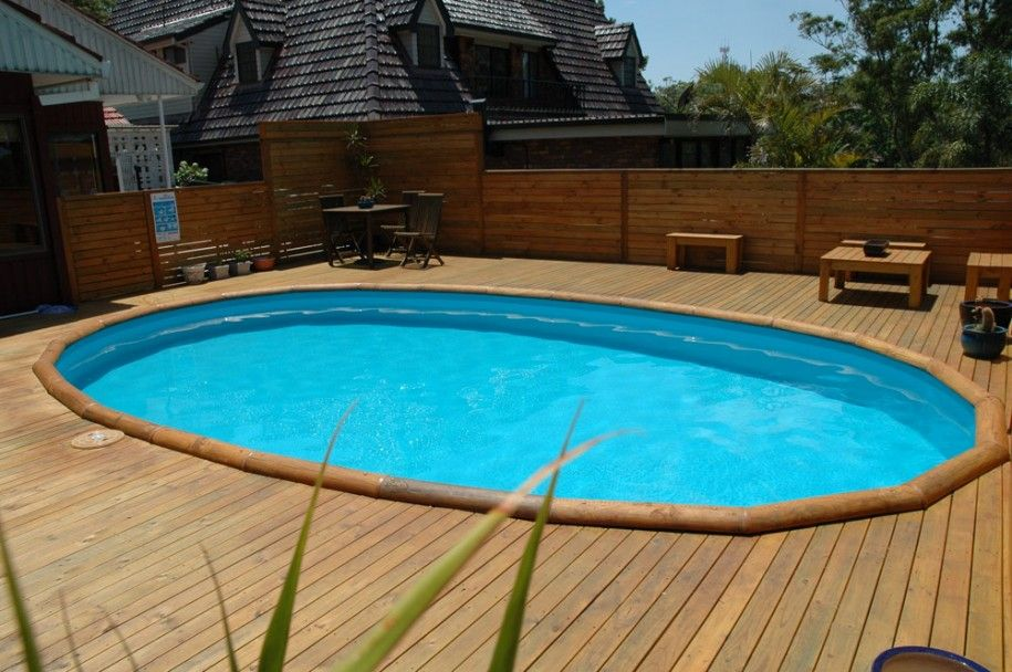 Inspiring Above Grond Pools With Decks Wood Table Cute Pots Wooden Pool Deck Pool Deck Plans In Ground Pools