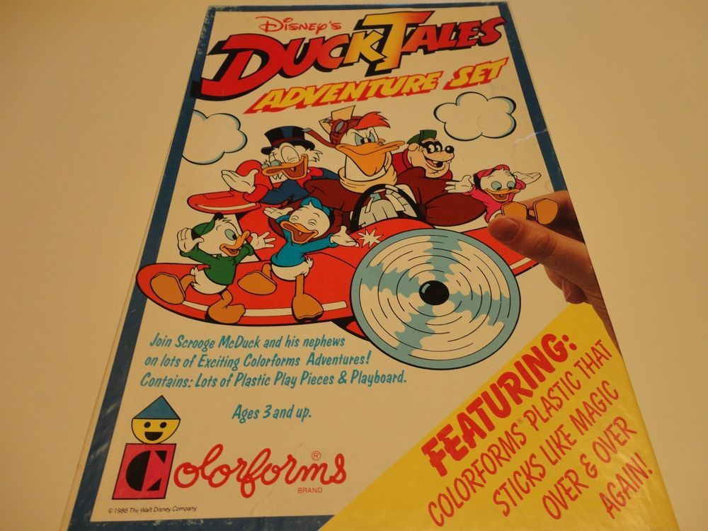 RARE WALT DISNEY DUCKTALES COLORFORMS ADVENTURE SET-scrooge-Mcduck-