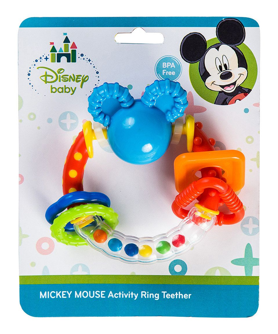Another great find on #zulily! Mickey Mouse Ears Activity Ring ...