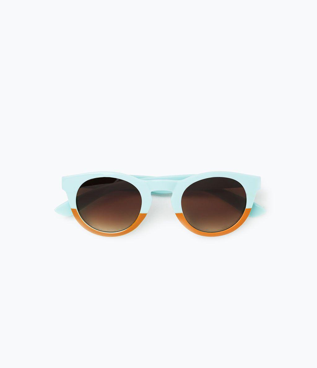 fa04eae482 ZARA - MUJER - GAFAS DE SOL BICOLOR | sunglasses | Gafas de sol ...