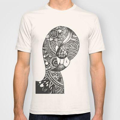 Tribal Flamingo Doodle / Zentangle / Tribanimals by Noah's ART