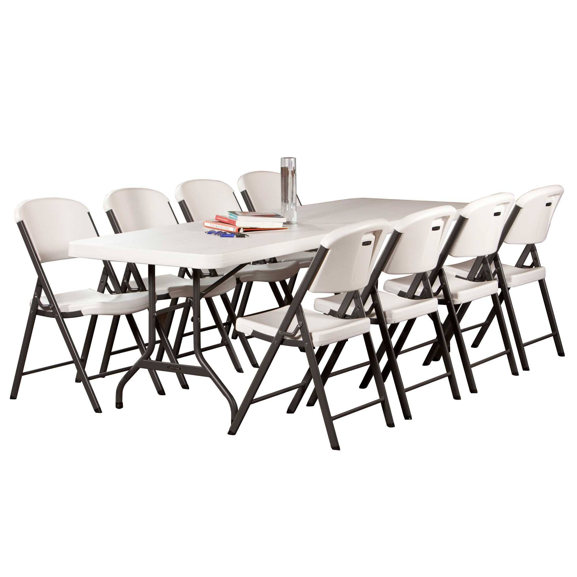 Lifetime 8 Foot Commercial Folding Table Features A 96 X 30