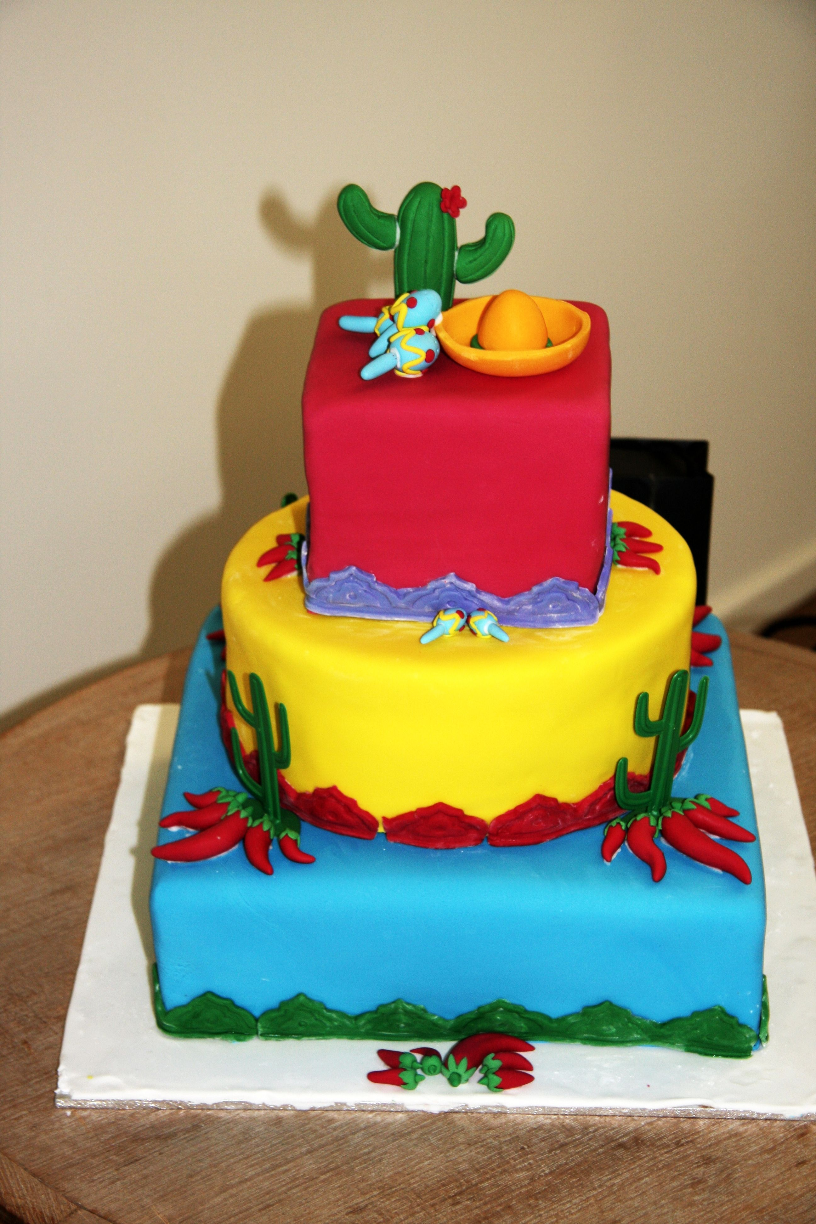 Mexican Cake For My Birthday Fiesta Party