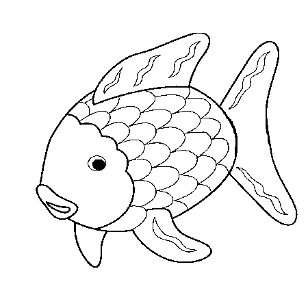 Dessin poisson rigolo a colorier bricolage enfant - Dessin poissons ...