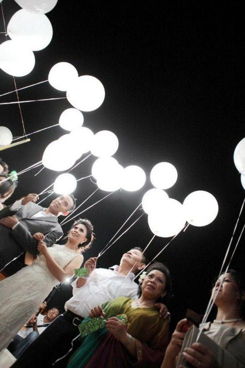 White Led Lights For Balloons Wedding Balloon Decorations