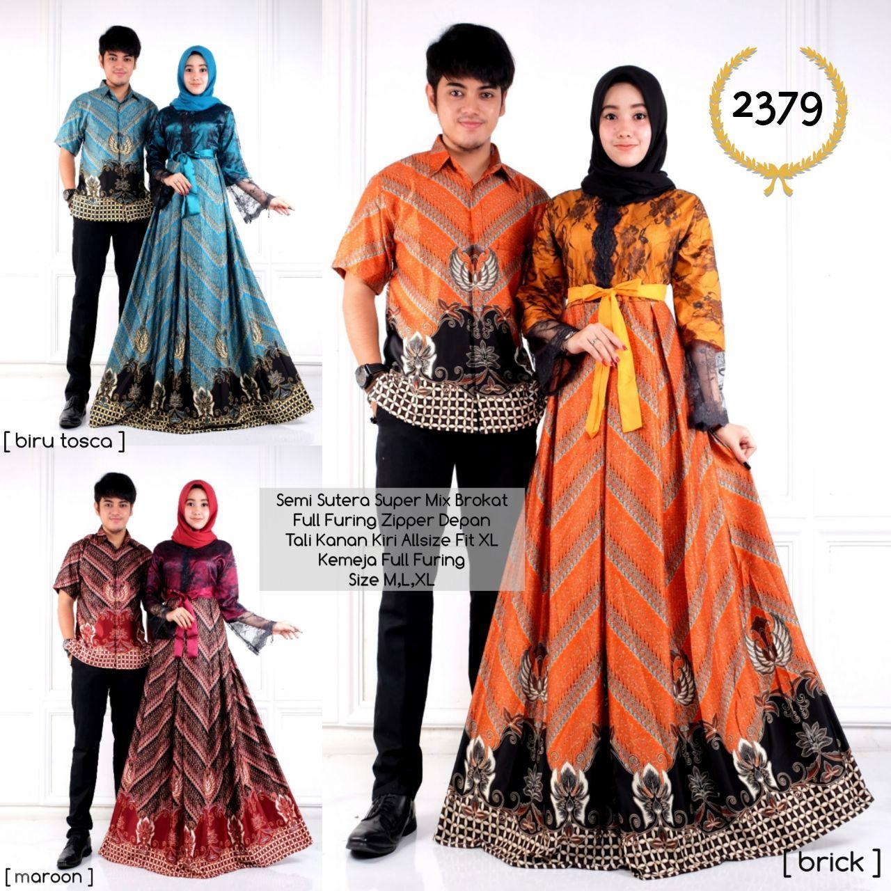 Toko Batik Solo Online Terpercaya Baju Batik Couple Gamis 10