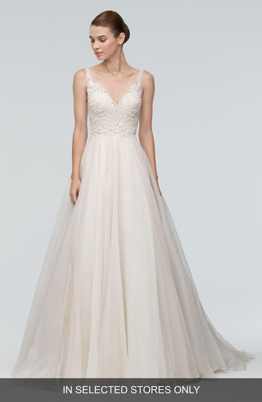 Nordstrom wedding dress  Watters Janet Embellished Tulle u Organza ALine Gown  Nordstrom