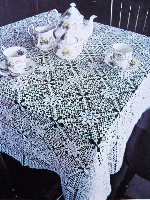 Instant Pdf Pattern Beautiful Heirloom Lace Crocheted Tablecloth