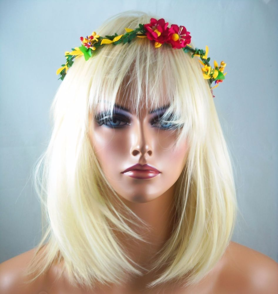 Festival boho hippie flower headband crown hair piece halo head festival boho hippie flower headband crown hair piece halo head piece fashionjewelry headbands izmirmasajfo Gallery