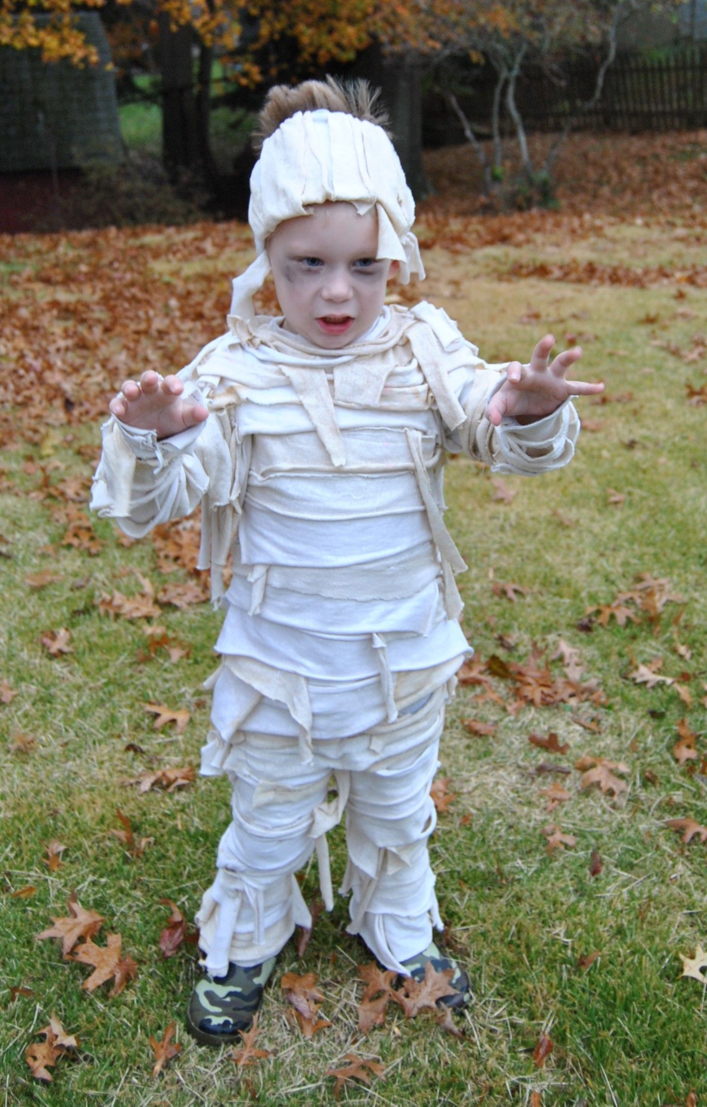 Handmade Mummy Costume 2013 Mummy costume, Diy halloween
