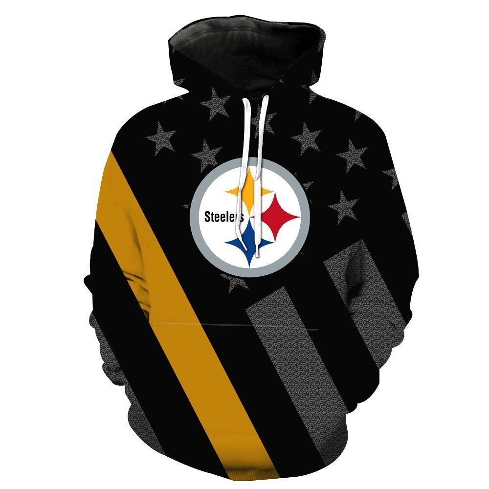 low priced 17bc6 e50de New Pittsburgh STEELERS Hoodie SF NFL Football Hooded ...
