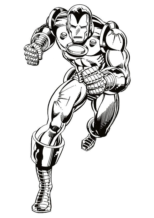 coloring page iron man iron man - Iron Man Coloring Pages Mark