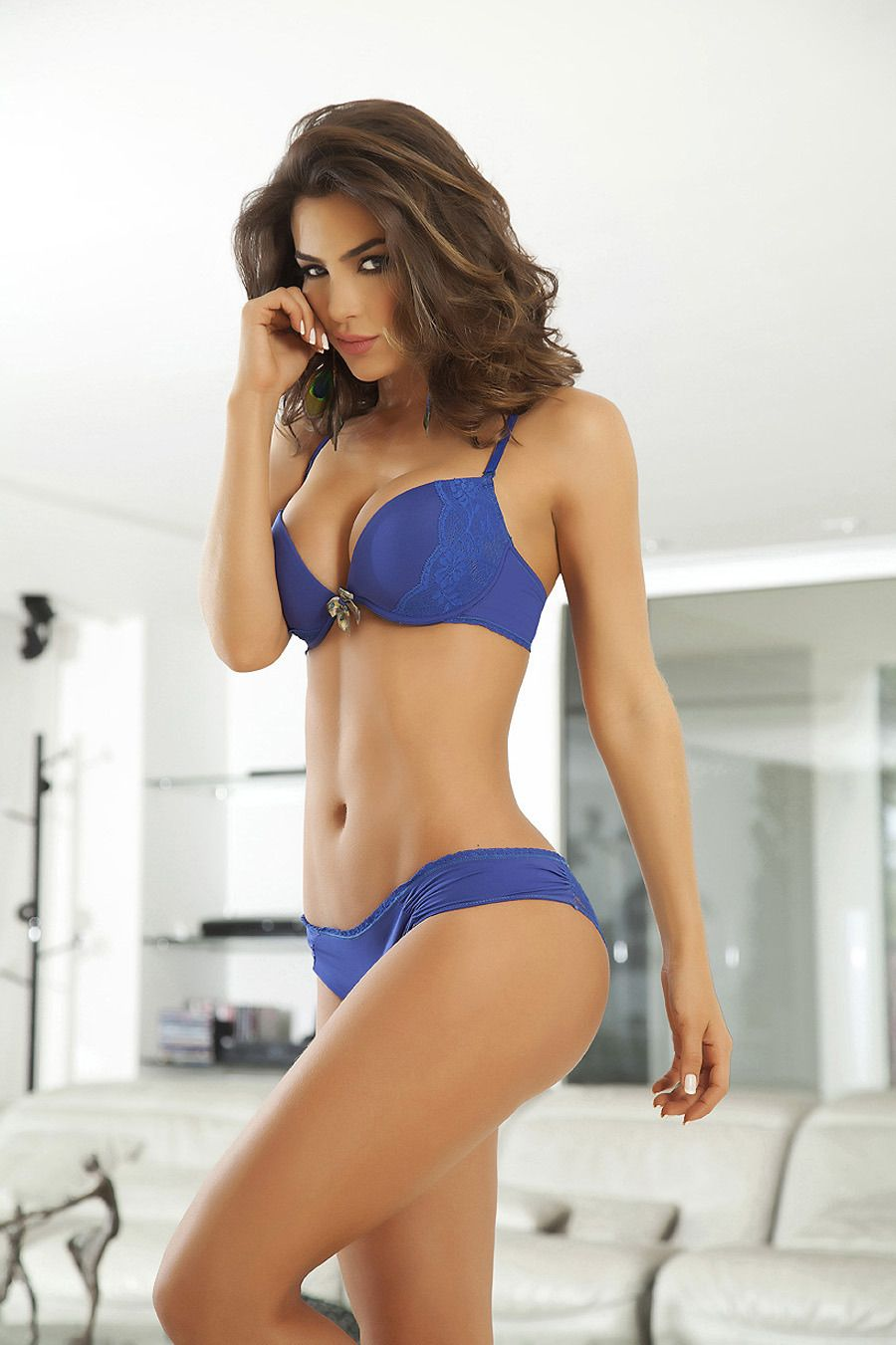 Latin women in lingerie