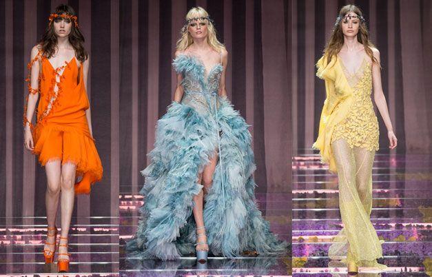 Неделя высокой моды в Париже: Atelier Versace #burdastyle #burda #мода #fashion
